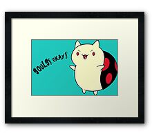 Catbug - Adventure Time - Evil Parody Framed Print