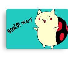 Catbug - Adventure Time - Evil Parody Canvas Print