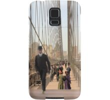 Brooklyn Bridge, New York, 1905 — Colorized Samsung Galaxy Case/Skin