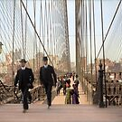 Brooklyn Bridge, New York, 1905 — Colorized by Sanna Dullaway