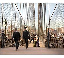 Brooklyn Bridge, New York, 1905 — Colorized Photographic Print