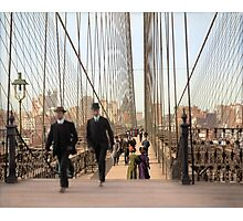 Brooklyn Bridge, New York, 1905 — Colorized Photographic Print