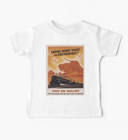 Vintage poster - Keep 'em rolling Baby Tee