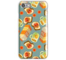 Coffee and Toast Time (Blue Grey) iPhone Case/Skin