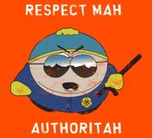 Respect Mah Authoritah - Light text  Kids Tee
