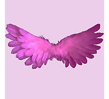 angel wings pink Photographic Print
