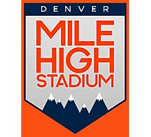 Mile High Stadium Photographic Print