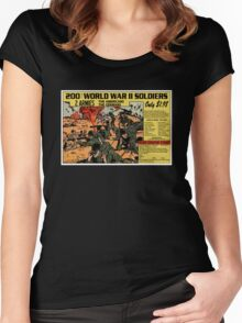 200 WW2 Soldiers Comic Book Ad Women's Fitted Scoop T-Shirt