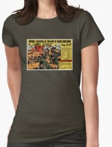200 WW2 Soldiers Comic Book Ad Womens Fitted T-Shirt