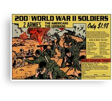 200 WW2 Soldiers Comic Book Ad Canvas Print