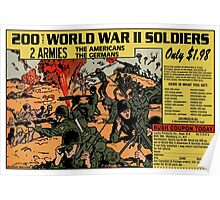 200 WW2 Soldiers Comic Book Ad Poster