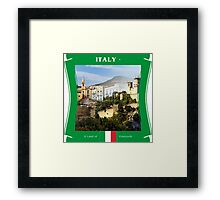 Italy - A Land Of Vineyards Framed Print