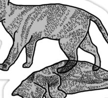 Shrodinger's cat  Sticker