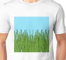 Tall Green Grass and Blue Sky Unisex T-Shirt