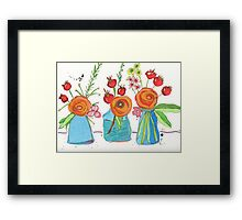 Encouraging Flowers Framed Print