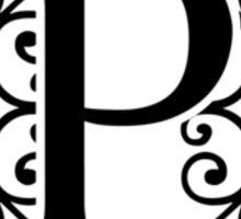 Letter P Monogram Sticker