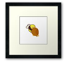 Cute Bee with Honey Framed Print