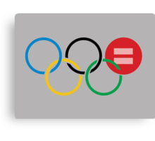 Olympic Equal Love Rings Canvas Print