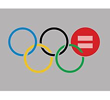 Olympic Equal Love Rings Photographic Print