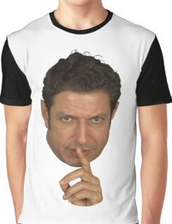 Jeff Goldblum Shush Face Graphic T-Shirt