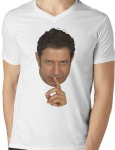 Jeff Goldblum Shush Face Mens V-Neck T-Shirt