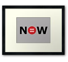 Equal Love Now Framed Print