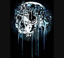 Blue Flower Crown Skull~ Womens Fitted T-Shirt