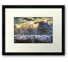 Snowy Ravine  Framed Print
