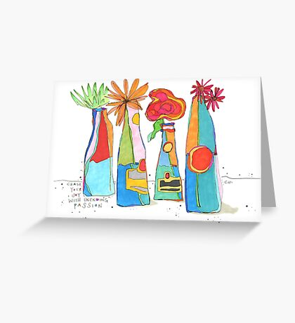 Bud Vases of Chasing Joy Greeting Card