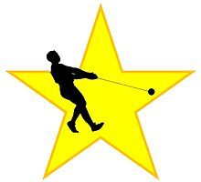 Hammer Throw Silhouette Star by kwg2200
