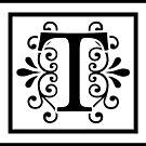 Letter T Monogram by imaginarystory
