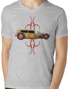Pinstripe Rat Mens V-Neck T-Shirt