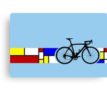 Bike Stripes Mondrian Canvas Print