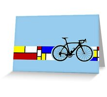 Bike Stripes Mondrian Greeting Card