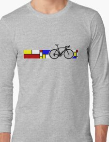 Bike Stripes Mondrian Long Sleeve T-Shirt