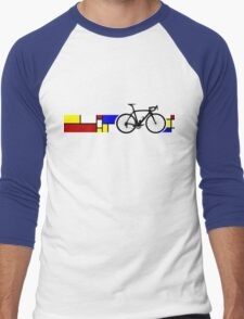 Bike Stripes Mondrian Men's Baseball ¾ T-Shirt