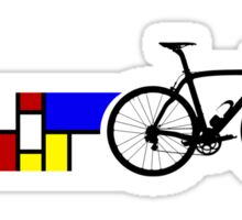 Bike Stripes Mondrian Sticker