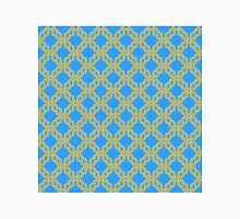 Blue and Gold Chain Pattern Unisex T-Shirt