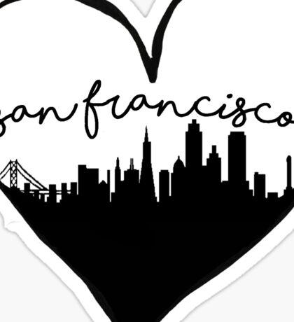 San Francisco, California City Love Sticker