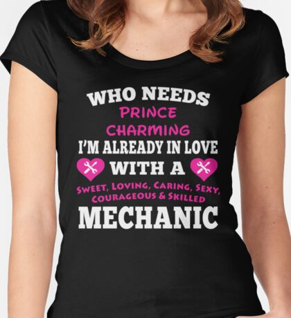 I Love My Mechanic <3 Women's Fitted Scoop T-Shirt