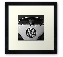 VW Split Screen camper / bus Framed Print