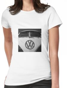 VW Split Screen camper / bus Womens Fitted T-Shirt