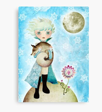 Wintry Little Prince T-Shirt Canvas Print