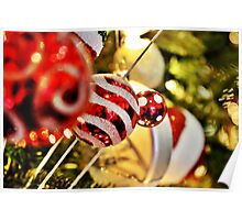 Candy Tree Ornaments Poster