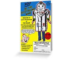 Electronic Man  Comic Book Ad Greeting Card