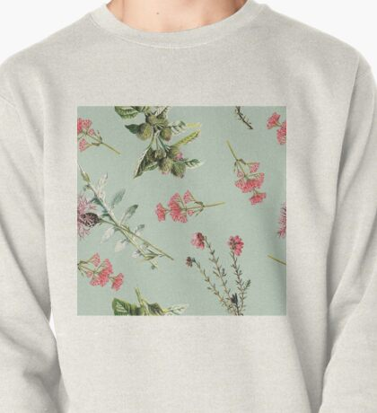 Thistle Floral Toss in Sage Green Pullover