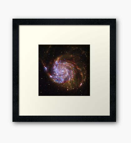 Spiral Galaxy Outer Space Framed Print
