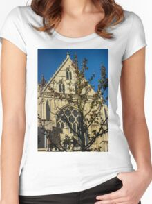 Majestic Cathedral/Hidden by the Tree - Travel Photography  Women's Fitted Scoop T-Shirt