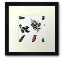 Winter Foliage in Snow White Framed Print