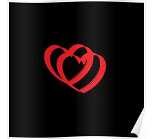 Hearts in black Poster